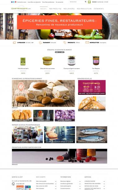 E-commerce pour Gastronomie.com