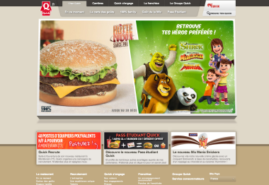 Le site officiel de Quick